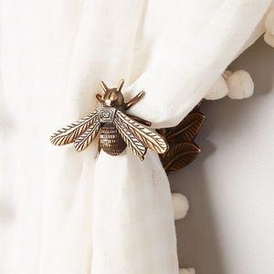 Anthropologie Queen Bee Brass Curtain Tieback